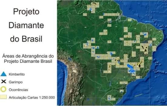 Brasil terá mina primária de diamantes