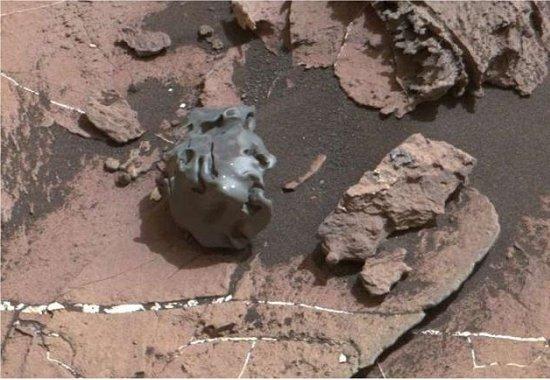 Meteorito metálico é encontrado em Marte