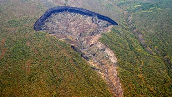 Cratera gigantesca revela como a Terra era há 200 mil anos