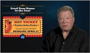 Envie seu nome para o Sol junto com o Capitão Kirk
