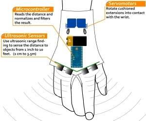 Luva-sonar para cegos tem projeto aberto