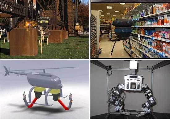 Robôs voadores terão mãos e braços robóticos