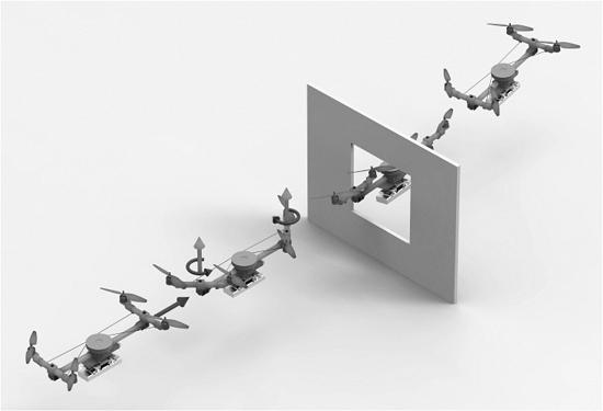 Drone muda de forma para passar por lugares estreitos