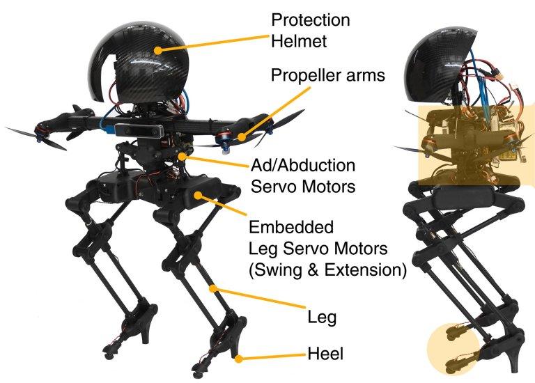 Leonardo, um drone com pernas que escolhe entre andar e voar