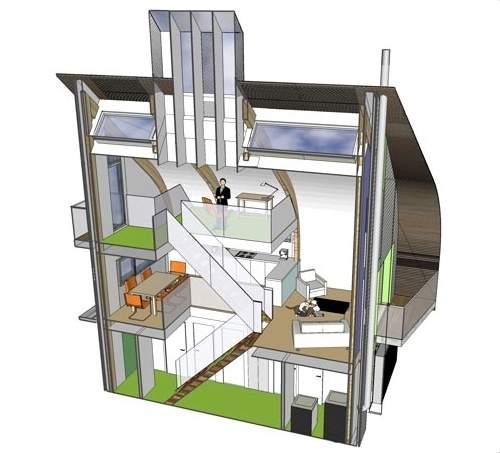Casa ecologicamente correta tem emissão zero de carbono
