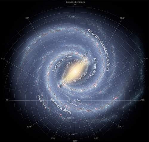 Via Láctea é mais bela do que se imaginava