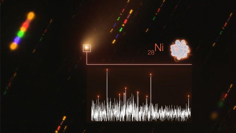 Vapores metálicos encontrados en el espacio