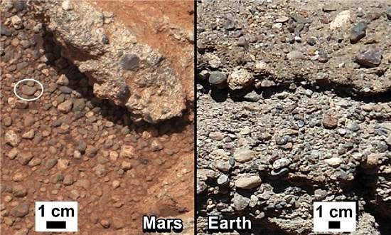 Curiosity encontra leito seco de rio em Marte