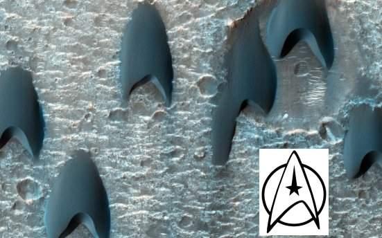 Dunas de Jornada nas Estrelas são fotografadas em Marte
