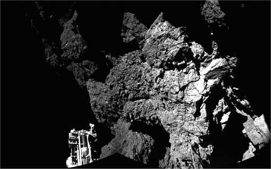 Philae está em situação crítica no cometa
