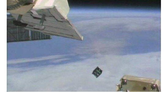 Estação espacial lança satélite brasileiro de pequeno porte