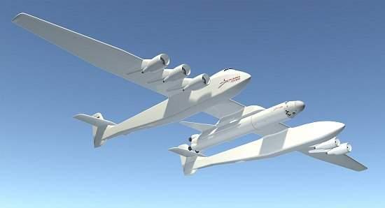 Super avião será usado para lançar foguete ao espaço