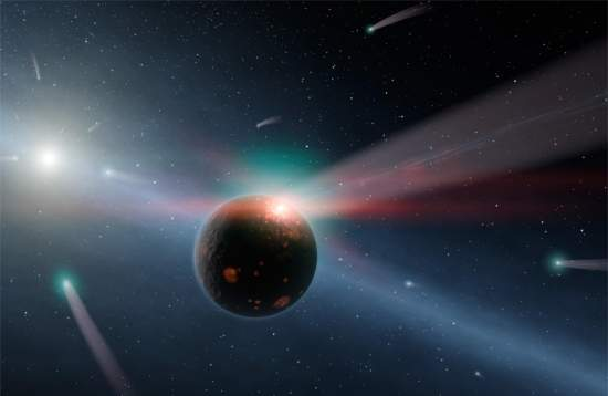 Telescópio detecta chuva de cometas em sistema planetário